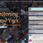 'You are listening to' sets police radio to a Soundcloud background